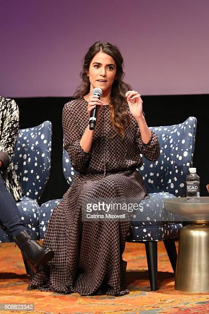 Actor Nikki Reed speaks during the Sleepy Hollow event during aTVfest 2016 presented by SCAD on February 6 2016 in Atlanta Georgia