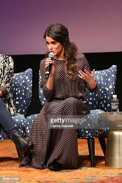Actor Nikki Reed speaks on stage during the Sleepy Hollow event during aTVfest 2016 presented by SCAD on February 6 2016 in Atlanta Georgia