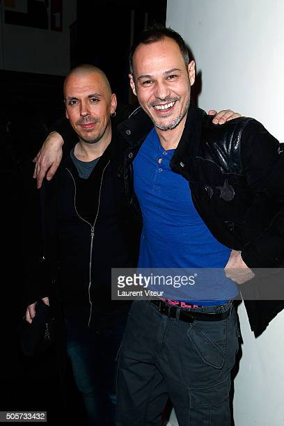 Actor Nikko Dogz and TV Presenter Gael Leforestier attend Polish Hope Paris Screening At Cinema Grand Action on January 19 2016 in Paris France
