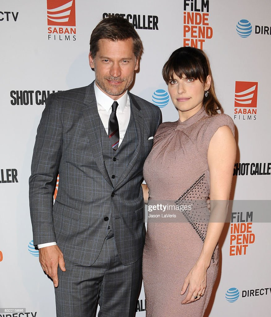 Actor Nikolaj Coster-Waldau and actress Lake Bell attend the premiere of 'Shot Caller' at The Theatre at Ace Hotel on August 15, 2017 in Los Angeles, California.