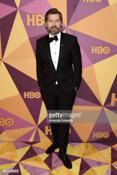 Actor Nikolaj CosterWaldau arrives at HBO's Official Golden Globe Awards After Party at Circa 55 Restaurant on January 7 2018 in Los Angeles...