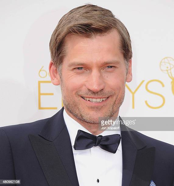 Actor Nikolaj CosterWaldau arrives at the 66th Annual Primetime Emmy Awards at Nokia Theatre LA Live on August 25 2014 in Los Angeles California