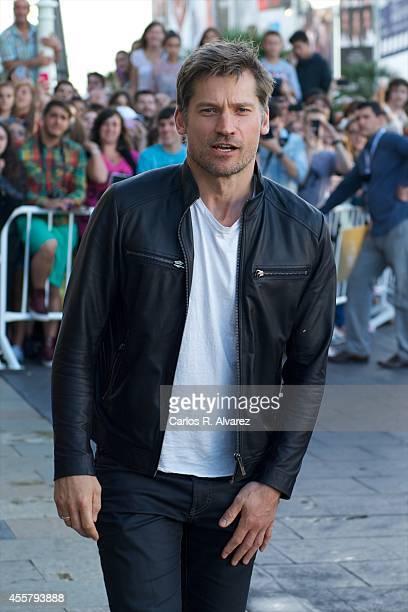 Actor Nikolaj CosterWaldau arrives at the Maria Cristina Hotel during the 62st San Sebastian International Film Festival on September 20 2014 in San...