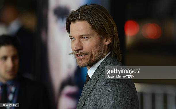 Actor Nikolaj CosterWaldau arrives at the premiere of HBO's 'Game Of Thrones' Season 3 at TCL Chinese Theatre on March 18 2013 in Hollywood California