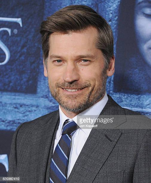"Actor Nikolaj Coster-Waldau arrives at the Premiere Of HBO's ""Game Of Thrones"" Season 6 at TCL Chinese Theatre on April 10, 2016 in Hollywood,..."