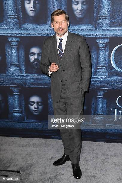 Actor Nikolaj CosterWaldau arrives at the premiere of HBO's 'Game of Thrones' Season 6 at the TCL Chinese Theatre on April 10 2016 in Hollywood...