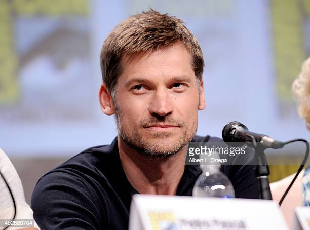 Actor Nikolaj CosterWaldau attends HBO's 'Game Of Thrones' panel and QA during ComicCon International 2014 at San Diego Convention Center on July 25...