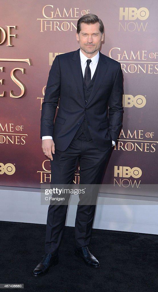 Actor Nikolaj Coster-Waldau attends HBO's 'Game of Thrones' Season 5 Premiere at the San Francisco War Memorial Opera House on March 23, 2015 in San Francisco, California.
