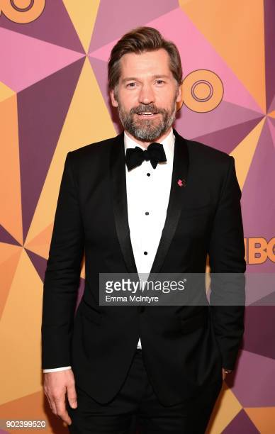 Actor Nikolaj CosterWaldau attends HBO's Official Golden Globe Awards After Party at Circa 55 Restaurant on January 7 2018 in Los Angeles California