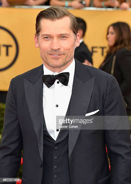 Actor Nikolaj CosterWaldau attends the 21st Annual Screen Actors Guild Awards at The Shrine Auditorium on January 25 2015 in Los Angeles California