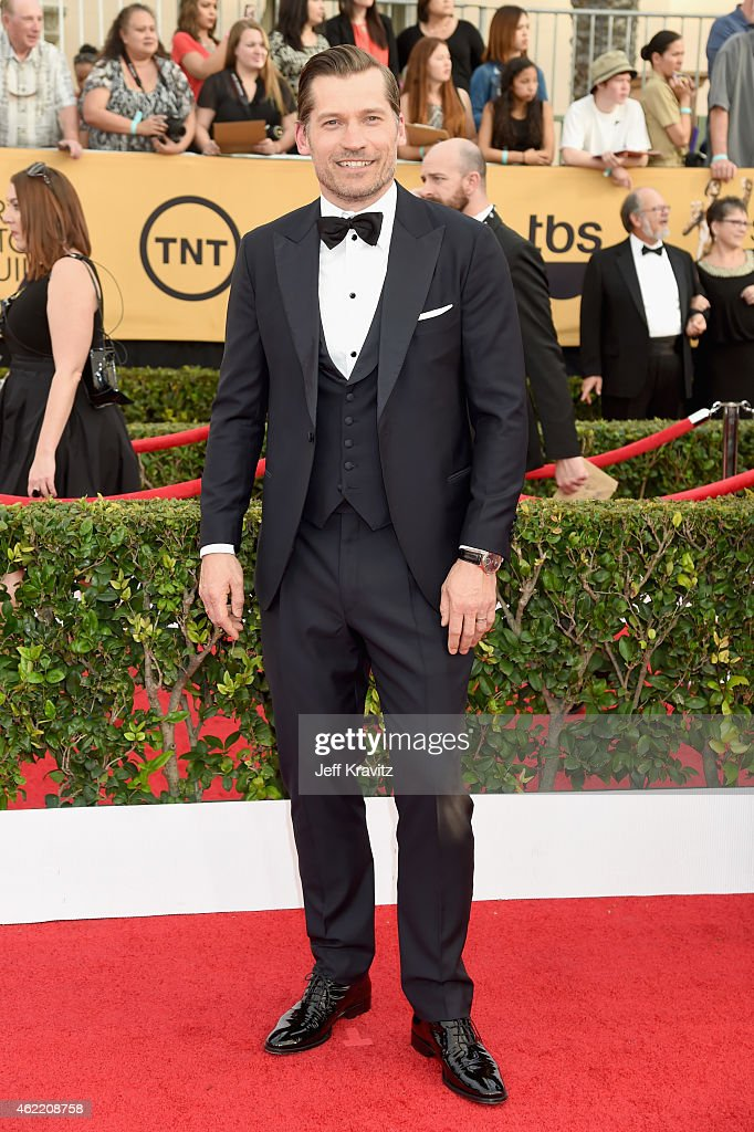 Actor Nikolaj Coster-Waldau attends the 21st Annual Screen Actors Guild Awards at The Shrine Auditorium on January 25, 2015 in Los Angeles, California.