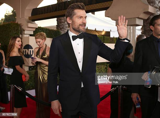 Actor Nikolaj CosterWaldau attends The 22nd Annual Screen Actors Guild Awards at The Shrine Auditorium on January 30 2016 in Los Angeles California...