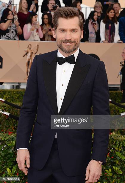 Actor Nikolaj CosterWaldau attends the 22nd Annual Screen Actors Guild Awards at The Shrine Auditorium on January 30 2016 in Los Angeles California