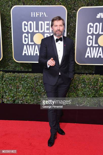 Actor Nikolaj CosterWaldau attends The 75th Annual Golden Globe Awards at The Beverly Hilton Hotel on January 7 2018 in Beverly Hills California