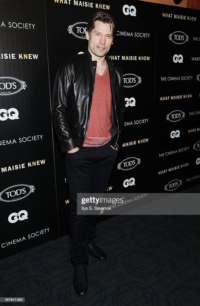 Actor Nikolaj Coster-Waldau attends The Cinema Society with Tod's & GQ screening of Millennium Entertainment's 'What Maisie Knew' at Landmark Sunshine Cinema on May 2, 2013 in New York City.