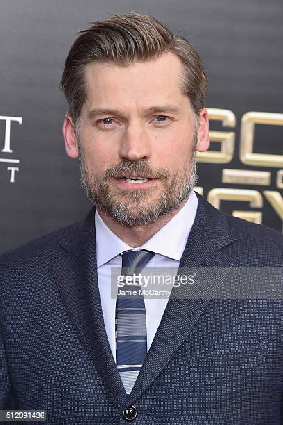 Actor Nikolaj CosterWaldau attends the 'Gods Of Egypt' New York Premiere at AMC Loews Lincoln Square 13 on February 24 2016 in New York City