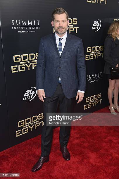 Actor Nikolaj CosterWaldau attends the Gods Of Egypt New York Premiere at AMC Loews Lincoln Square 13 on February 24 2016 in New York City