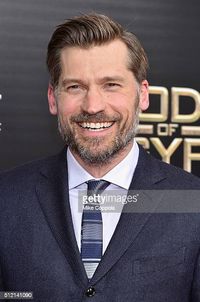 "Actor Nikolaj Coster-Waldau attends the ""Gods Of Egypt"" New York Premiere at AMC Loews Lincoln Square 13 on February 24, 2016 in New York City."