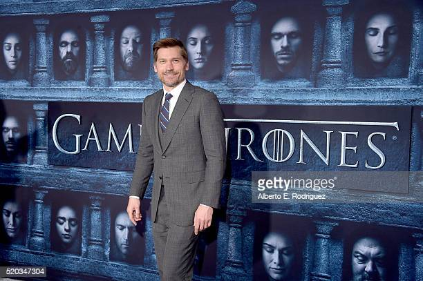 Actor Nikolaj CosterWaldau attends the premiere of HBO's 'Game Of Thrones' Season 6 at TCL Chinese Theatre on April 10 2016 in Hollywood California