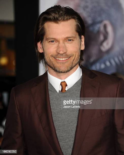 """Actor Nikolaj Coster-Waldau attends the premiere of """"Oblivion"""" at the Dolby Theatre on April 10, 2013 in Hollywood, California."""