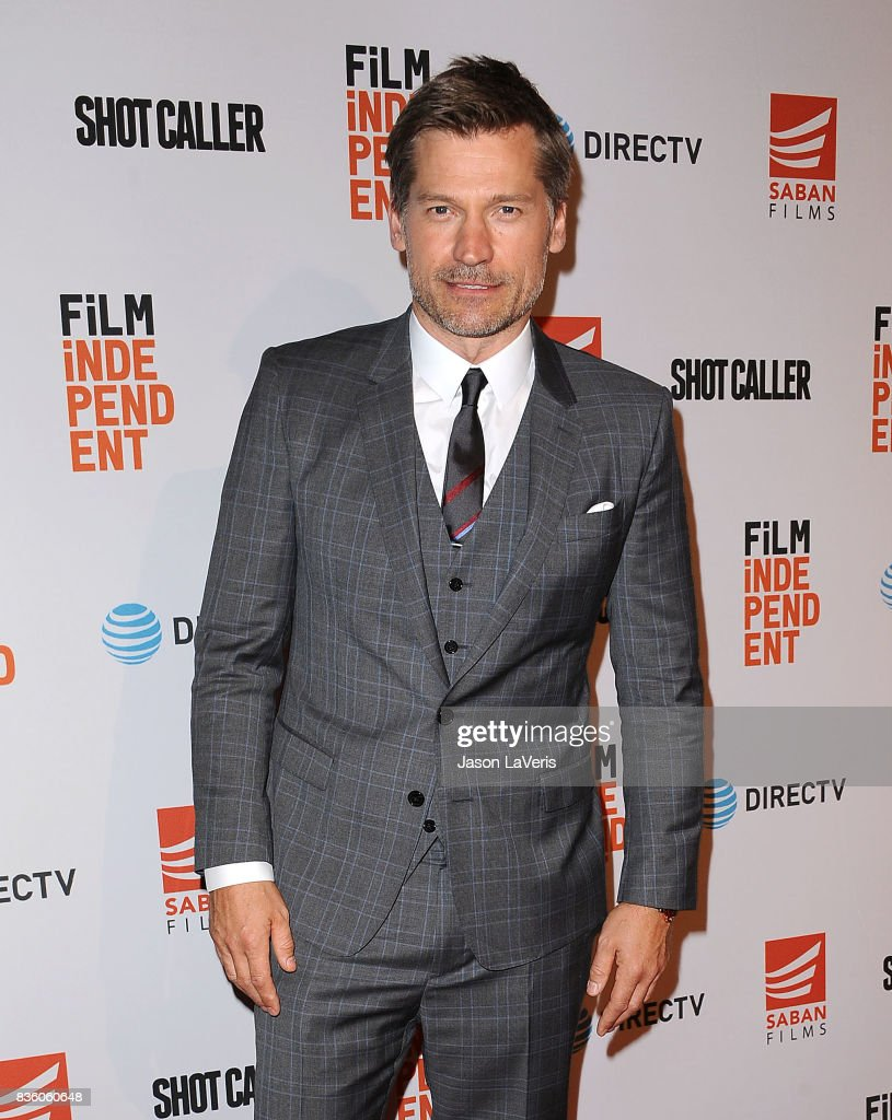 Actor Nikolaj Coster-Waldau attends the premiere of 'Shot Caller' at The Theatre at Ace Hotel on August 15, 2017 in Los Angeles, California.