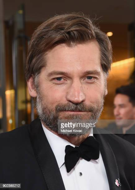 Actor Nikolaj CosterWaldau celebrates The 75th Annual Golden Globe Awards with Moet Chandon at The Beverly Hilton Hotel on January 7 2018 in Beverly...