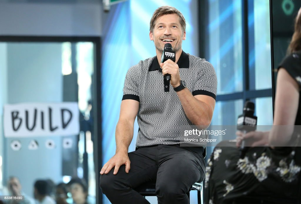 Actor Nikolaj Coster-Waldau discusses his new film 'Shot Caller' at Build Studio on August 17, 2017 in New York City.
