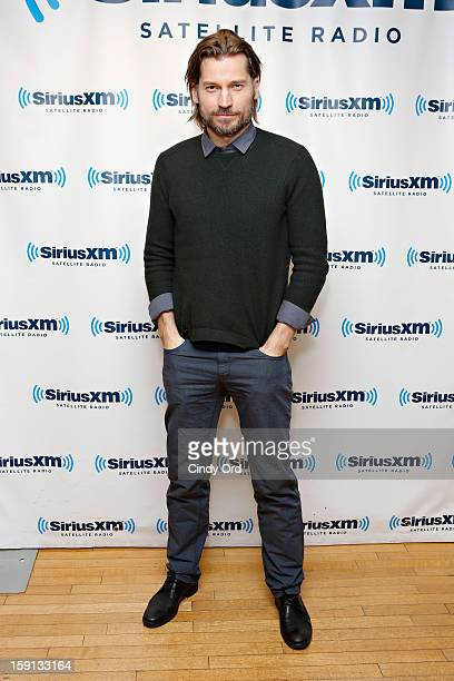 Actor Nikolaj CosterWaldau visits the SiriusXM Studios on January 8 2013 in New York City