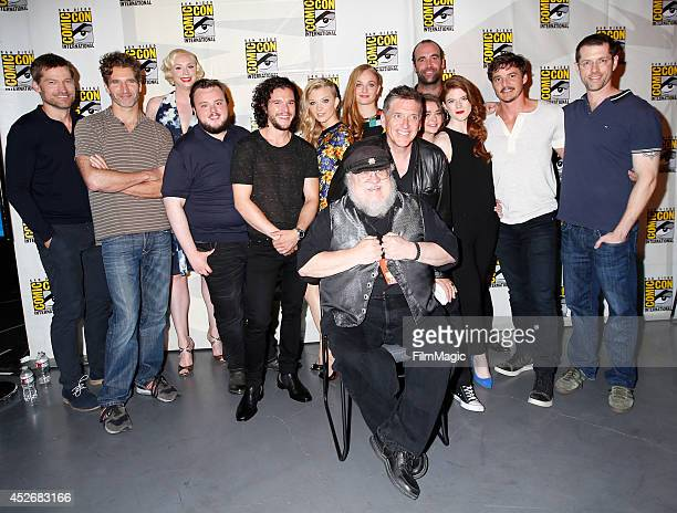 Actor Nikolaj CosterWaldau writer/producer David Benioff actors Gwendoline Christie John Bradley Kit Harington Natalie Dormer Sophie Turner Craig...
