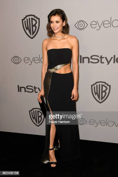 Actor Nina Dobrev attends the 19th Annual PostGolden Globes Party hosted by Warner Bros Pictures and InStyle at The Beverly Hilton Hotel on January 7...