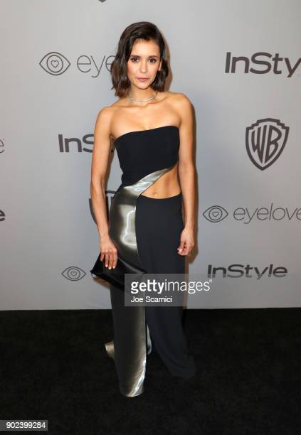 Actor Nina Dobrev attends the 2018 InStyle and Warner Bros 75th Annual Golden Globe Awards PostParty at The Beverly Hilton Hotel on January 7 2018 in...