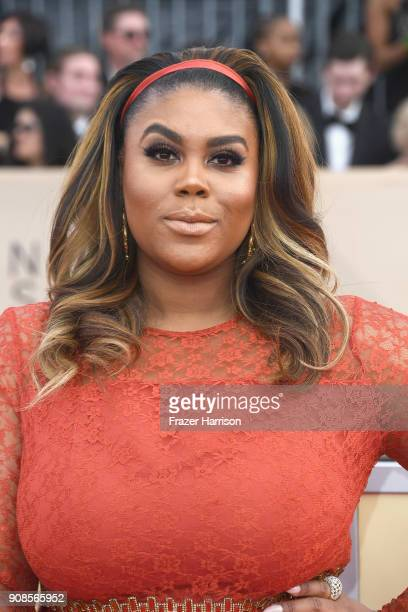 Actor Nina Parker attends the 24th Annual Screen ActorsGuild Awards at The Shrine Auditorium on January 21 2018 in Los Angeles California