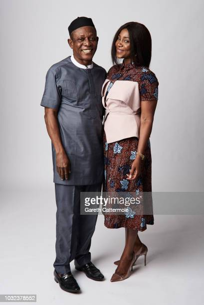 Actor Nkem Owoh and filmmaker Genevieve Nnaji from the film 'Lionheart' pose for a portrait during the 2018 Toronto International Film Festival at...