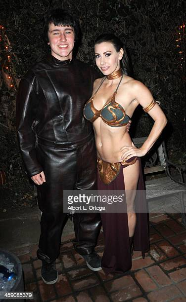 Actor Noah Dahl and actress/model Tawny Amber Young attend SyFy's Monster Man Cleve A Hall's Annual Halloween Party held at a private location on...