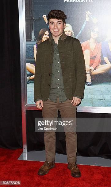 Actor Noah Galvin attends the How To Be Single New York premiere at NYU Skirball Center on February 3 2016 in New York City