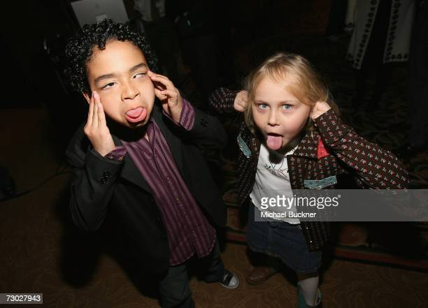 Actor Noah GrayCabey and actress Maria Lark attend NBC's Winter Press Tour AllStar Party at the RitzCarlton Hotel on January 17 2007 in Pasadena...