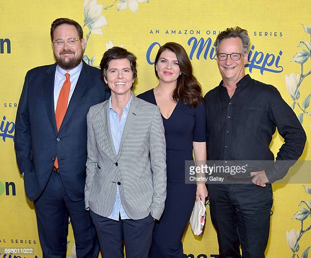 Actor Noah Harpster creator/actress Tig Notaro and actors Casey Wilson and John Rothman attend the premiere of Amazon's new series One Mississippi on...