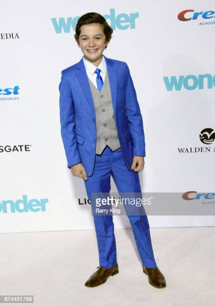 Actor Noah Jupe attends the premiere of Lionsgates's' 'Wonder' at Regency Village Theatre on November 14 2017 in Westwood California