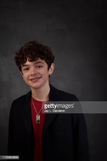 Actor Noah Jupe from 'Honey Boy' is photographed for Los Angeles Times on January 25 2019 at the 2019 Sundance Film Festival in Salt Lake City Utah...