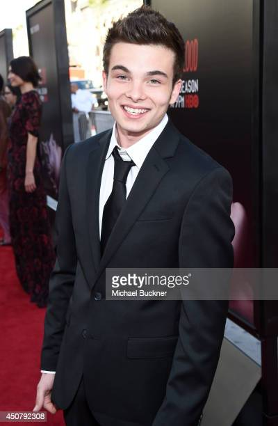 Actor Noah Matthews attends Premiere Of HBO's True Blood Season 7 And Final Season at TCL Chinese Theatre on June 17 2014 in Hollywood California