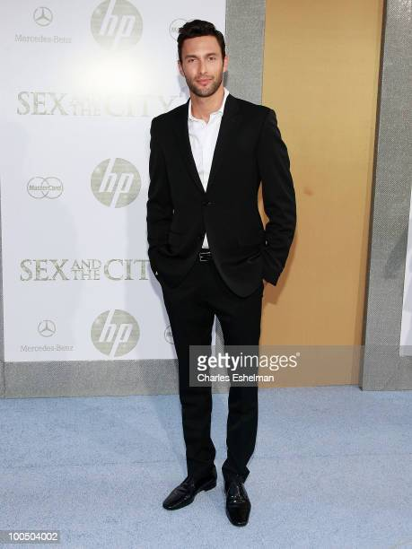 Actor Noah Mills attends the premiere of 'Sex and the City 2' at Radio City Music Hall on May 24 2010 in New York City