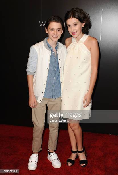 Actor Noah Schnapp and actress Millie Bobby Brown attend the 'Stranger Things' FYC event at Netflix FYSee Space on June 6 2017 in Beverly Hills...
