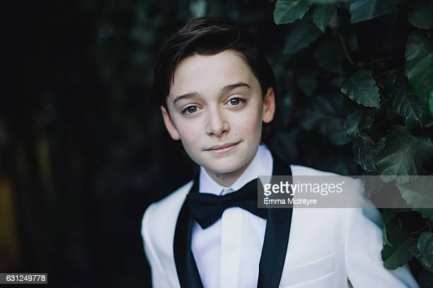 Actor Noah Schnapp attends 'Finn Wolfhard Caleb McLaughlin and Noah Schnapp prepare for the 74th annual Golden Globes Awards' on January 8 2017 in...