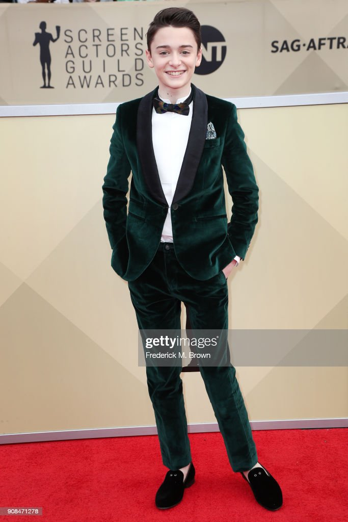Actor Noah Schnapp attends the 24th Annual Screen Actors Guild Awards at The Shrine Auditorium on January 21, 2018 in Los Angeles, California. 27522_017