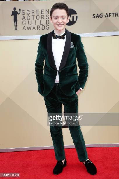 Actor Noah Schnapp attends the 24th Annual Screen Actors Guild Awards at The Shrine Auditorium on January 21 2018 in Los Angeles California 27522_017