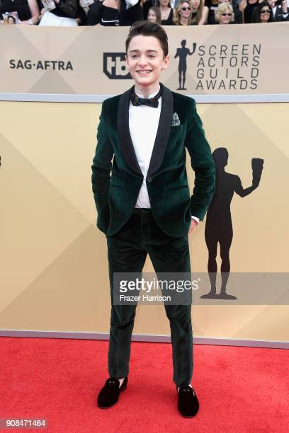 Actor Noah Schnapp attends the 24th Annual Screen Actors Guild Awards at The Shrine Auditorium on January 21 2018 in Los Angeles California