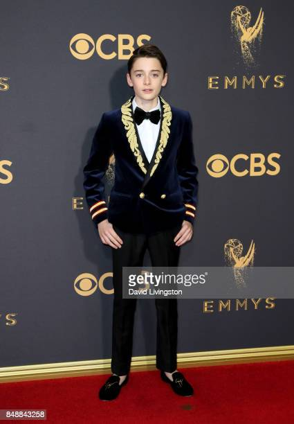 Actor Noah Schnapp attends the 69th Annual Primetime Emmy Awards Arrivals at Microsoft Theater on September 17 2017 in Los Angeles California