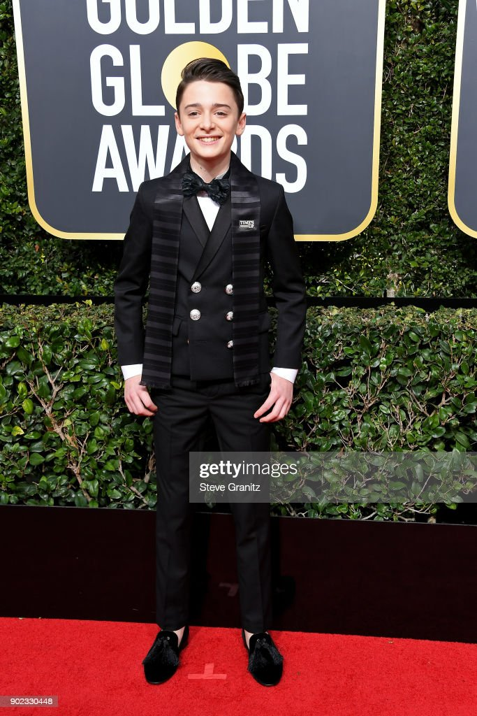 Actor Noah Schnapp attends The 75th Annual Golden Globe Awards at The Beverly Hilton Hotel on January 7, 2018 in Beverly Hills, California.