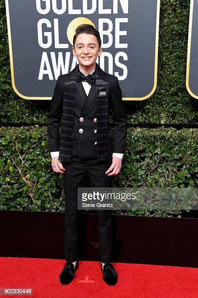 Actor Noah Schnapp attends The 75th Annual Golden Globe Awards at The Beverly Hilton Hotel on January 7 2018 in Beverly Hills California