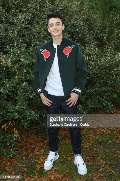 Actor Noah Schnapp attends the Lacoste Womenswear Spring/Summer 2020 show as part of Paris Fashion Week on October 01 2019 in Paris France